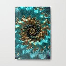 Aqua Supreme Metal Print