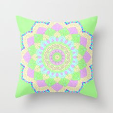 Pastel Mandala Throw Pillow
