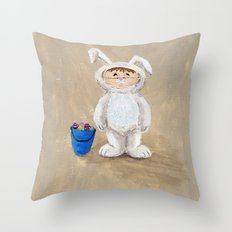 I'm A Rabbit - but I wanted to be a Fireman Throw Pillow