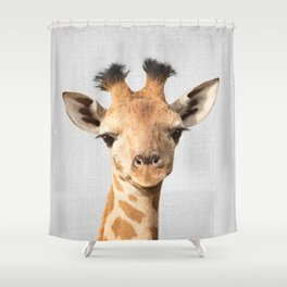 Baby Giraffe - Colorful Shower Curtain