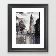 Bordeaux painting Framed Art Print