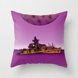 Gneisenau Run Aground Throw Pillow