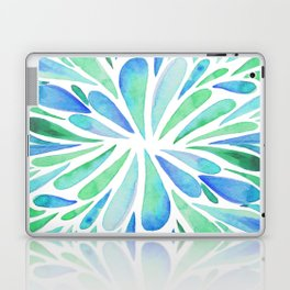 Symmetric drops - turquoise and blue Laptop & iPad Skin