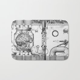 Mother Brain Super Metroid Engraving Scene Bath Mat