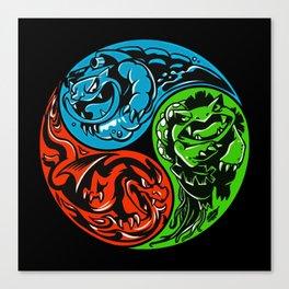 POKéMON STARTER: THREE ELEMENTS Canvas Print
