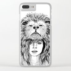 Lion Lady Clear iPhone Case