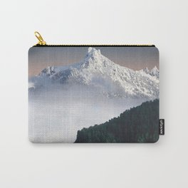 Fairytale Landscape Snow Capped Mountain Lush Green Forest Carry-All Pouch