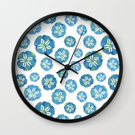 Blue Sand Dollars Wall Clock