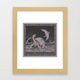 Stop, egret! Framed Art Print