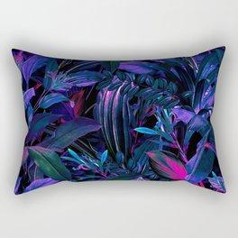 Future Garden Tropical Night Rectangular Pillow
