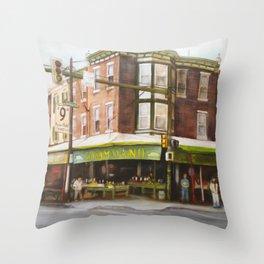 Italian Market Philadelphia Throw Pillow