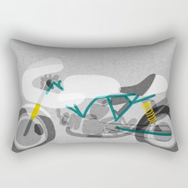 Vintage Motorcycle Rectangular Pillow