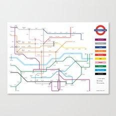 Type Tube Canvas Print