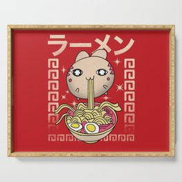 Hungry Ramen Cat / Noodles Japan Serving Tray