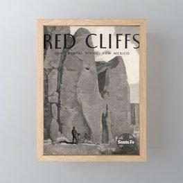 Werbeplakat Red Cliffs voyage poster Framed Mini Art Print