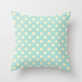 Dotted - Soft Blue Throw Pillow