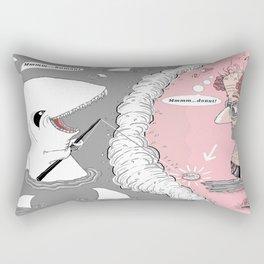 The Donut Lure Rectangular Pillow
