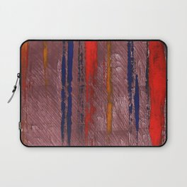Bright red abstract painting Laptop Sleeve