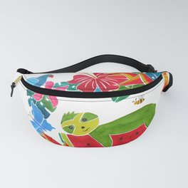 Sloth on a watermelon Fanny Pack