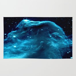 Turquoise Horsehead NeBula Rug