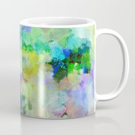 Original Green Abstract Painting on Canvas Coffee Mug