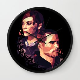 Facets of Shepard Wall Clock