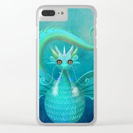 Blue Dragon Clear iPhone Case