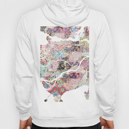 Vancouver map Canada Hoody