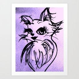 SEXY CAT2 Art Print