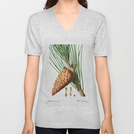 An enlarged picture of maritime pine (Pinus maritima) from Traite des Arbres et Arbustes que lon cul Unisex V-Neck