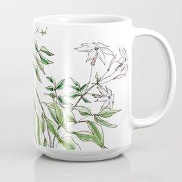 Jasmine Flower Illustration Coffee Mug