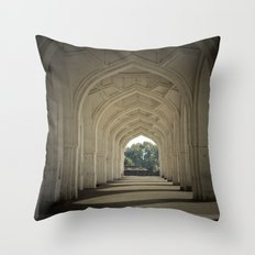 Arched colonnade Throw Pillow