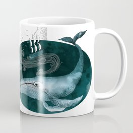 The whale and the ship Coffee Mug