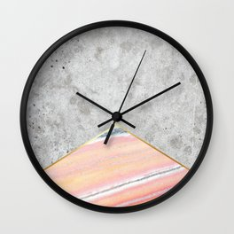 Concrete Arrow Pink Marble #289 Wall Clock