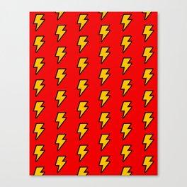 Cartoon Lightning Bolt pattern Canvas Print