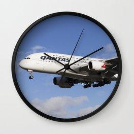 Qantas Airbus A380 Wall Clock