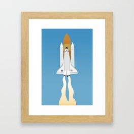 Rocket Ship Framed Art Print