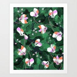 Cyclamen Spring Flowers Print Art Print