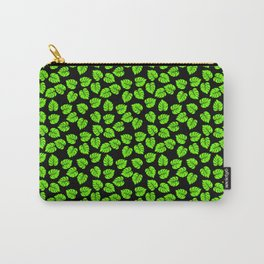 Giant  Neon Green Monstera Tropical Jungle Leaves Carry-All Pouch