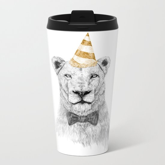 Get the party started (color) Metal Travel Mug