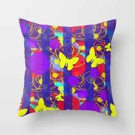 Happy Spring Pattern Throw Pillow