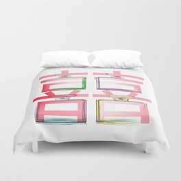 NO.5 DOUBLE HAPPINESS IN RED Duvet Cover