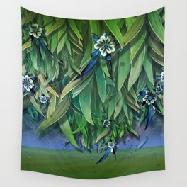 """""""Spring Forest of Surreal Leaf litter and flowers"""" Wall Tapestry"""