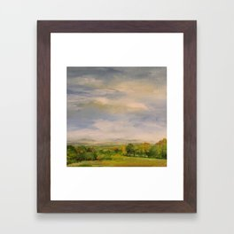 Scenic Autumn Late Afternoon in Vermont Nature Art Landscape Oil Painting Framed Art Print