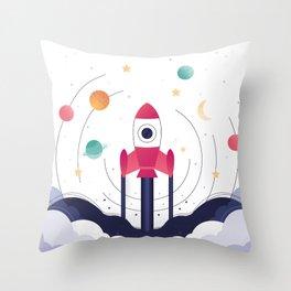 COSMODOG : Planetarium Throw Pillow