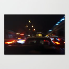 Taxi Space Warp Canvas Print