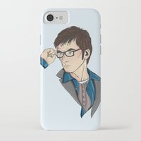 david tennant iPhone & iPod Cases featuring Dr Who David Tennant by Hungry Designs