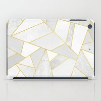jon snow iPad Cases featuring White Stone by Elisabeth Fredriksson