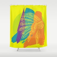 headdress Shower Curtains featuring Headdress  by kpatron