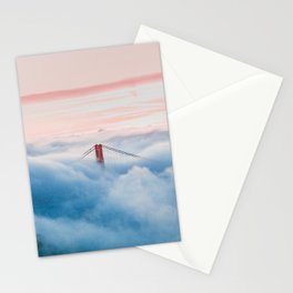 Golden Gate Bridge Above the Clouds Stationery Cards